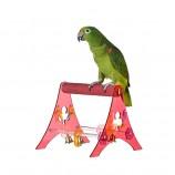 Игрушка для птиц Акриловая Подставка для птиц (D3.5x21x24см)