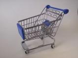 Игрушка для птиц Тележка из супермаркета (3.5х9.5х14см)