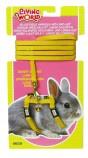 Шлейка с поводком для карликовых кроликов, желтая