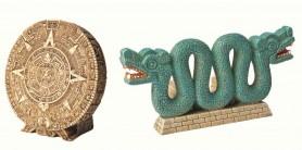Декорация древний календарь + двухголовая змея