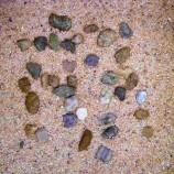 Грунт натуральный крупный песок + галька 5 кг