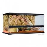 Террариум из силикатного стекла 90х45х45см декоративным
