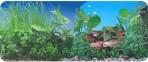 Фон двухсторонний 60см. Растительный (синий) / Растительный
