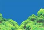 Фон односторонний 30см. Ландшафт из мха (темно-синий)