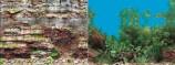 Фон двухсторонний 30см.Камни скалистая стена/ Растительный