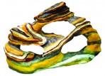 Декорация пластиковая Радужный камень 310х100х200